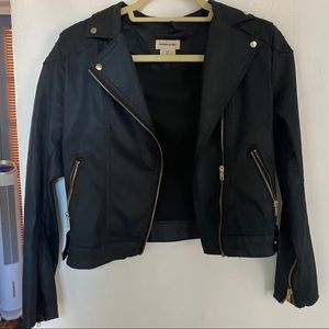 H&M Women's Black Leather Jacket